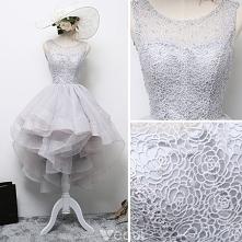 Piękne Szary Sukienki Kokta...