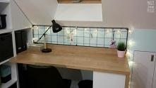 Organizer wykonany na indywidualne zamówienie - piękna dekoracja biurka w ska...