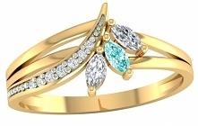 Na koniec tygodnia prezentujemy subtelny pierścionek zaręczynowy zdobiony owa...