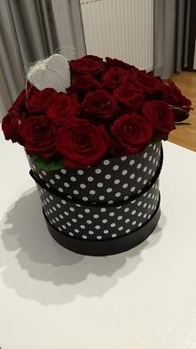 Przepiękny bukiet z czerwonych róż