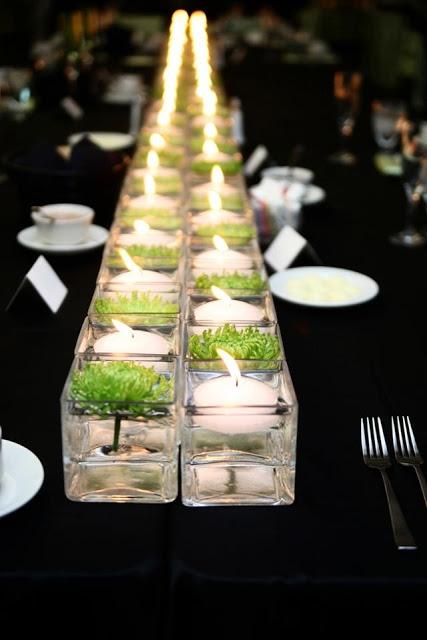 Szklane świeczniki na tealighty
