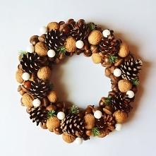 Wianek świąteczny brązowy, znajdziecie na zielonamieta.dawanda.com