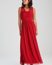 Długa sukienka Dorothy Perkins Petite BERRY JOSIE LACE DETAIL PROM idealna dl...