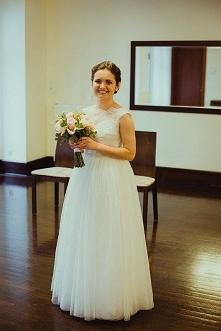 suknia ślubna szyta na zamówienie od Baronetki :)