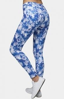 Conte Aster legginsy niebieskie Modne legginsy damskie, wykonane z wzorzystej...