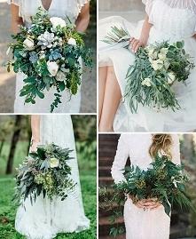 Bukiet ślubny z liści również może się piękne prezentować