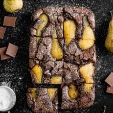 Przepyszne brownie z gruszk...