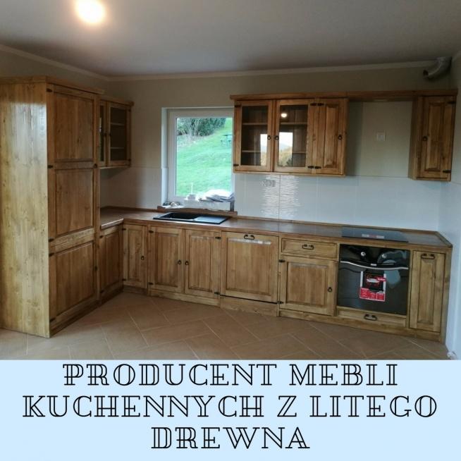Drewniane Meble Kuchenne Na Wymiar Na Kuchnia Wystrój Wnętrz