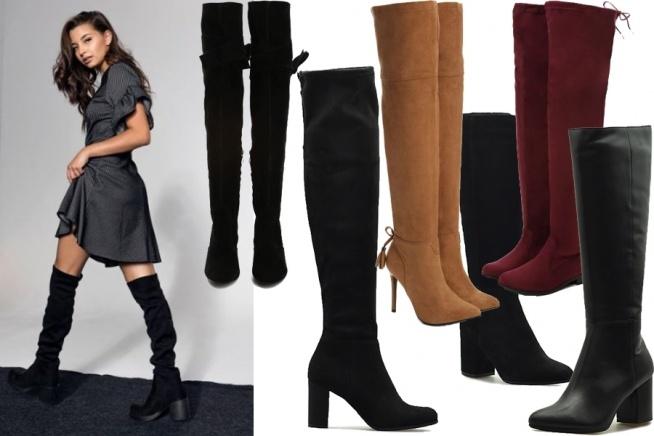 buty na jesień za kolano