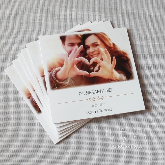Zaproszenia ślubne Ze Zdjęciem Na Zaproszenia ślubne Navi Zszywkapl