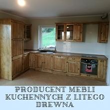 drewniane meble kuchenne na...