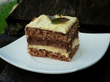 chałwowo - czekoladowe ciasto