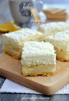 Ciasto kokosowo  cytrynowe....