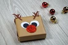 Jak zapakować świąteczny prezent - renifer
