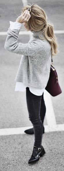 Sweter i koszula <3