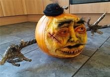 Moja dynia na Halloween :)