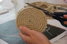 Rustic Rope Coasters DIY