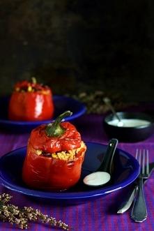 papryka faszerowana po meksykańsku z sosem czosnkowym  Przepis po kliknięciu ...