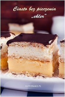 Ciasto bez pieczenia Ekler