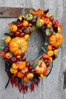 wianek dekoracyjny jesienny...