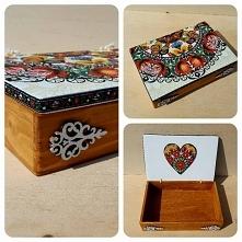 Pudełko w folkowym stylu :) Więcej na fb