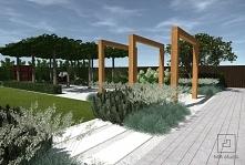 Pergola w ogrodzie nowoczesnym