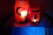 Moje lampiony halloweenowe, zainspirowała mnie oczywiście zszywka :)