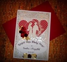 Karta z życzeniami na ślub ...