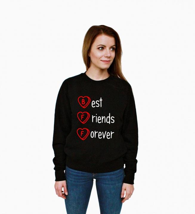 Bluza przyjaźni - modna młodzieżowa bluza hipster z nadrukiem dla przyjaciółek. Fajna bluza damska z napisami BEST FRIENDS FOREVER - bluza dla przyjaciółek. Bluzy Best Friends to świetny pomysł na prezent dla przyjaciółki na urodziny , święta , imieniny. Bluza dla dziewczyn z nadrukiem serca i napisem Najlepsze Przyjaciółki na Zawsze. Bluza o kroju klasycznym - dresowa bluza bawełniana bez kaptura ze ściągaczami w stylu hipster, skate, street, blogerska. Do wyboru 11 kolorów bluzy, duże i małe rozmiary, nadruki na bluzy są trwałe. Oryginalna bluza dla nastolatek - bluza dziewczęca dla przyjaciółek.