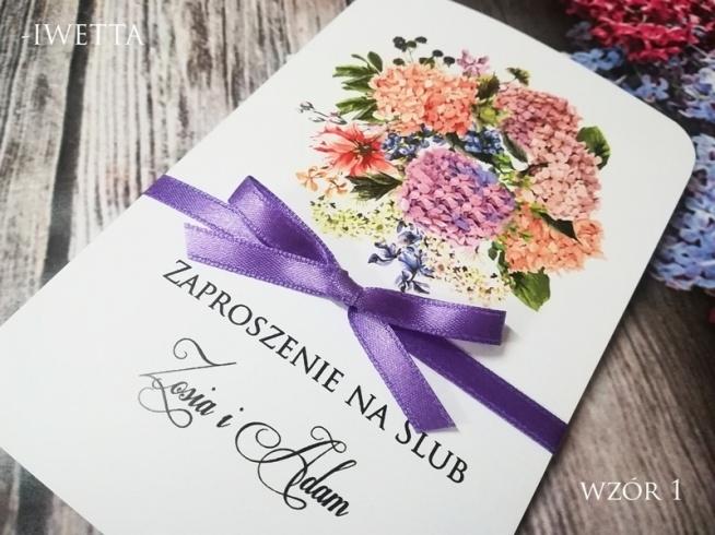 Piękne Zaproszenia ślubne Z Motywem Bzu Na Zaproszenia ślubne