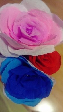 Róże z bibuły <3