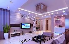 Nowoczesny salon, przestrzenny i oświetlony, można