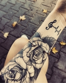 #tatuaż #sztuka #róża #rose...