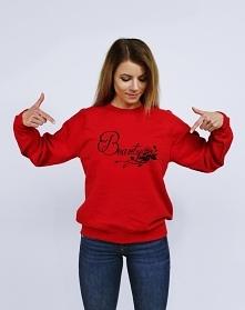 Bluza damska dla par z nadrukiem BEAUTY - modna bluza walentynkowa z kolekcji...