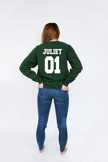 Bluza z nadrukiem JULIET 01 - bluza dla par z napisami z kompletu BLUZY ROMEO...