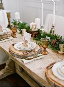 Pomysl przygotowania stołu na święta