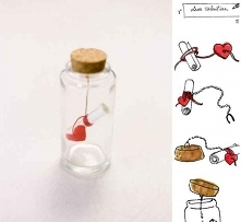 walentynkowy liscik w butelce