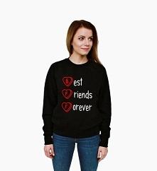 Bluza przyjaźni - modna młodzieżowa bluza hipster z nadrukiem dla przyjaciółek. Fajna bluza damska z napisami BEST FRIENDS FOREVER - bluza dla przyjaciółek. Bluzy Best Friends t...