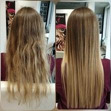 sombre i keratynowe prostowanie włosów
