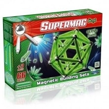 Piątek, piąteczek, piątunio:) uwielbiamy:)  Będzie świecąco i magnetycznie:)  Wyprodukowane we Włoszech klocki magnetyczne dla dzieci od lat 3 Supermag Maxi, aż 66 elementów w z...