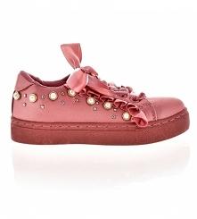 Tenisówki dla dziewczynki pudrowy róż. Buty dziecięce w rozmiarach od 22 do 36 poleca sklep z obuwiem styloweobcasy.pl, Buty dla dzieci do szkoły i przedszkola.