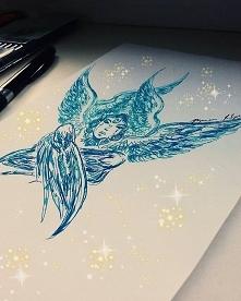 Art Angel ❤ . My #artwork Owner @defilipovicz . . #art #drawing #draw #artwork #artist #sketch #angel #drawings #illustration #sketchbook #painting #artistic #instaart #angelgir...