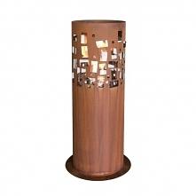 Biokominek wolnostojący Gustav Commerce Planika - biokominek w obudowie ze stalii Corten