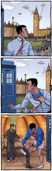 Crossover Doctora who z Supermanem