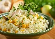 Ryż z kukurydzą SKŁADNIKI: ryż długoziarnisty - 300 gramów Bulionetka drobiow...