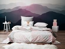 sypialnia z górskim widokiem (fototapeta: Myloview)