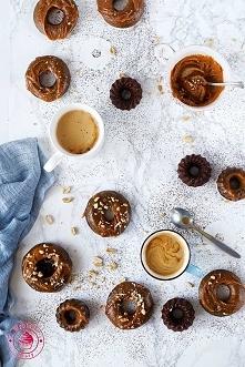 Donuty czekoladowe pieczone - Wypieki Beaty