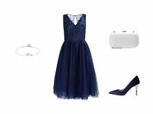 Klasyczne połączenie ➡️ Do kupienia KLIK W ZDJĘCIE. ● sukienka Chi Chi London