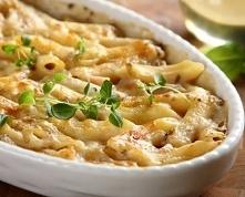 Makaron zapiekany z serem i szynką  SKŁADNIKI:: makaron rurki - 200 gramów so...