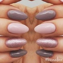 Piękne jasne kolory - paznokcie
